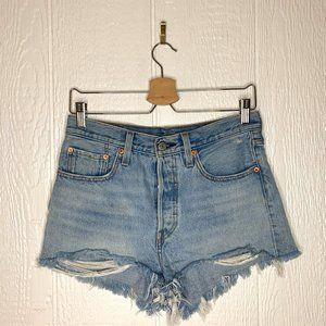 LEVI'S 501 Distressed Denim Cut-Off Shorts